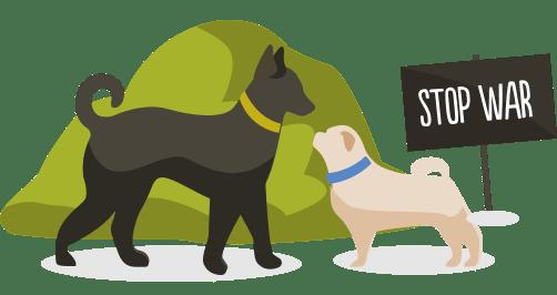 Illustration de chiens